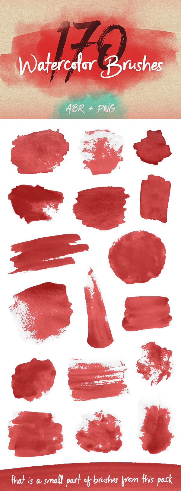 Watercolor Brushes Pack for PS