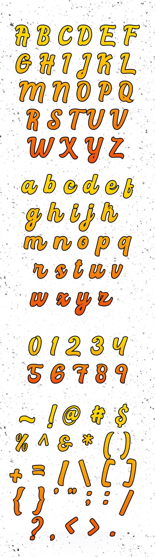 Rachael Script Free Font Letters