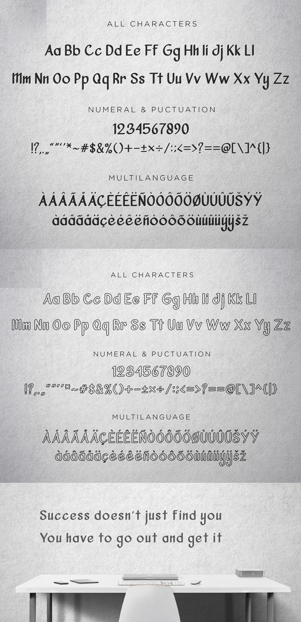 Vanjar Sans Free Font Letters