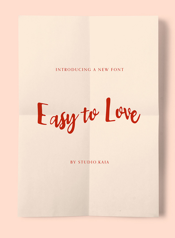 Easy to Love Free font