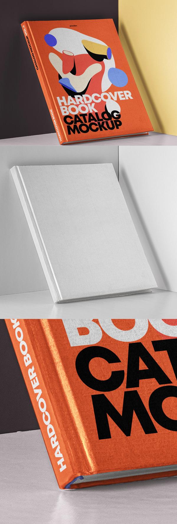 Free Psd Hardcover Book Catalog Mockup