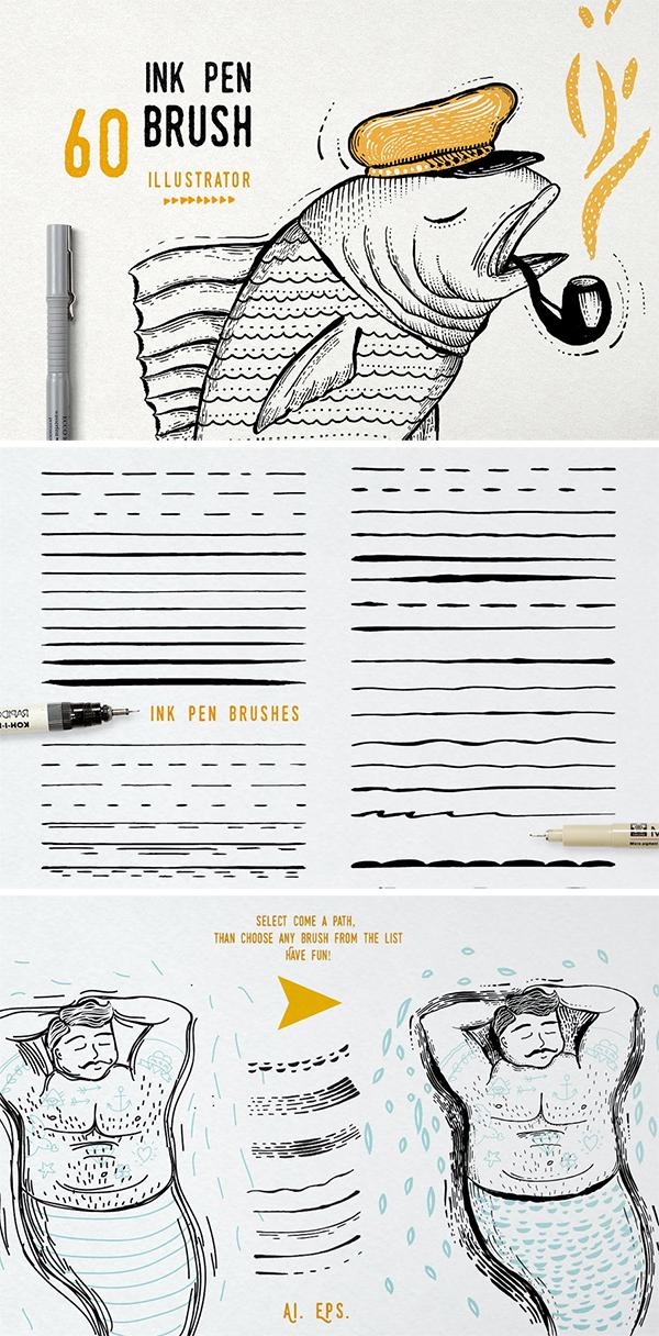 Ink Pen Brush vector