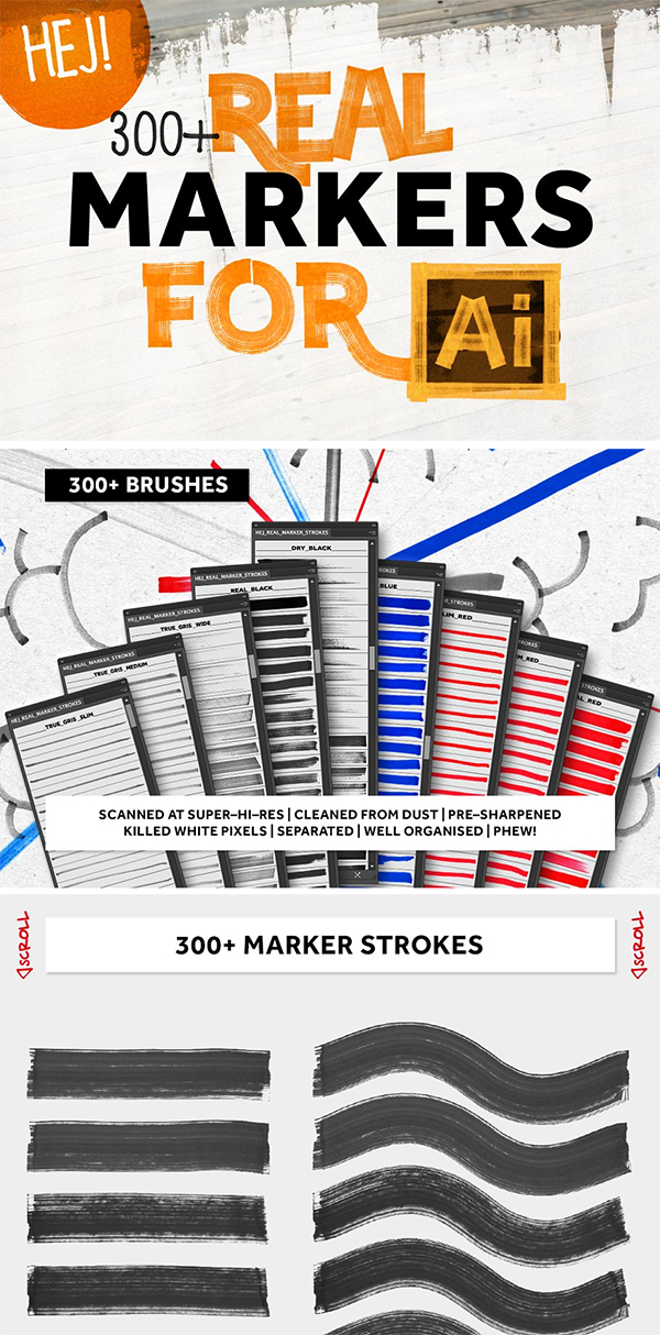 Real Markers For Illustrator