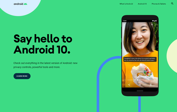 Android webpage