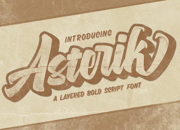 Asterik Bold Script Free Font