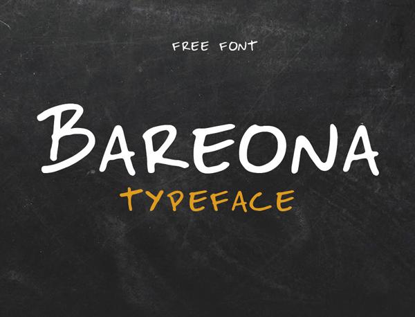 Bareona Handwritten Free Font