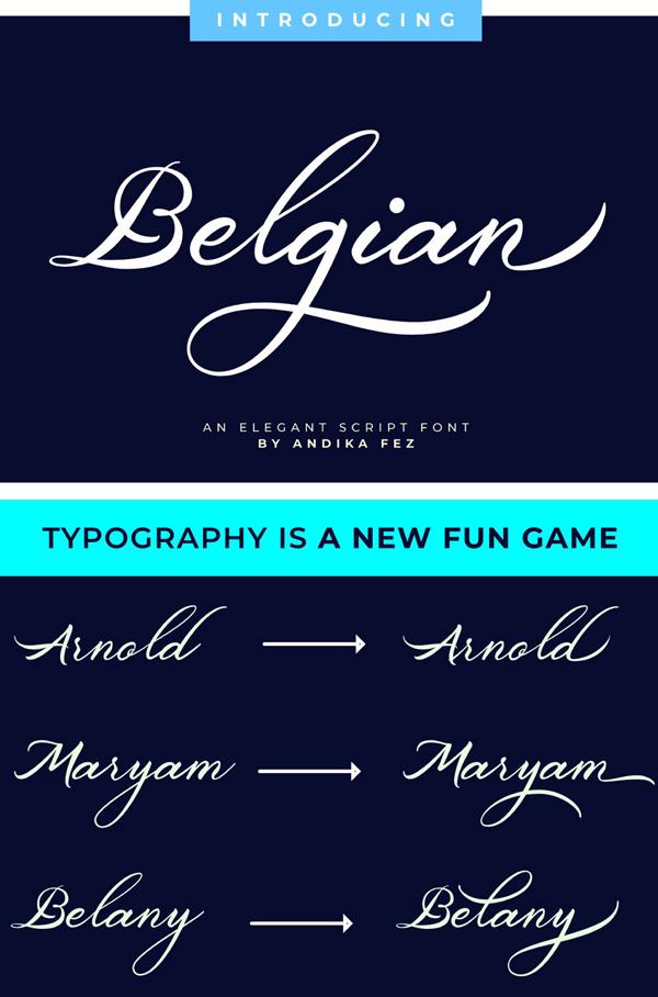 Belgian Signature Free Font