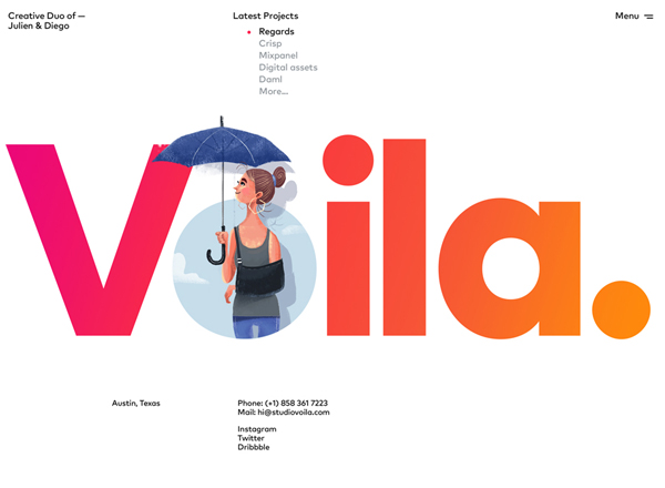 Big Bold Typography in Web