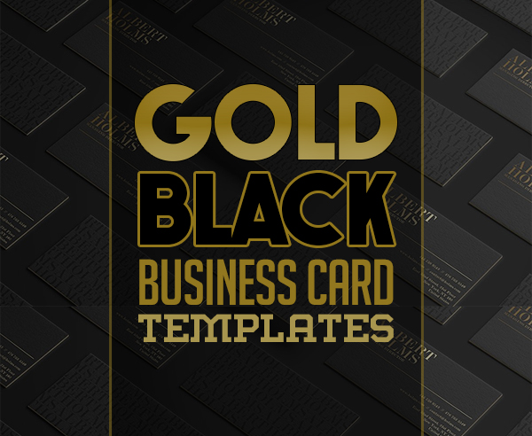 Elegant Black and Gold Business Card Templates