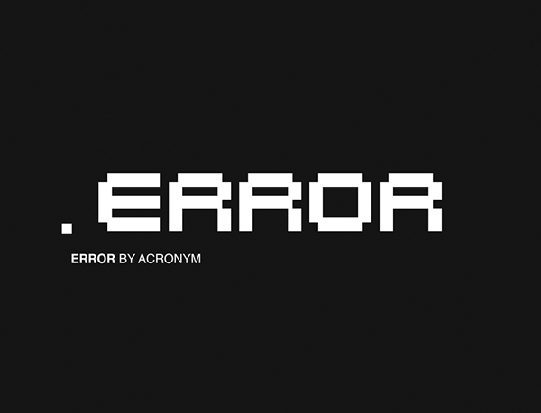 Error Free Font