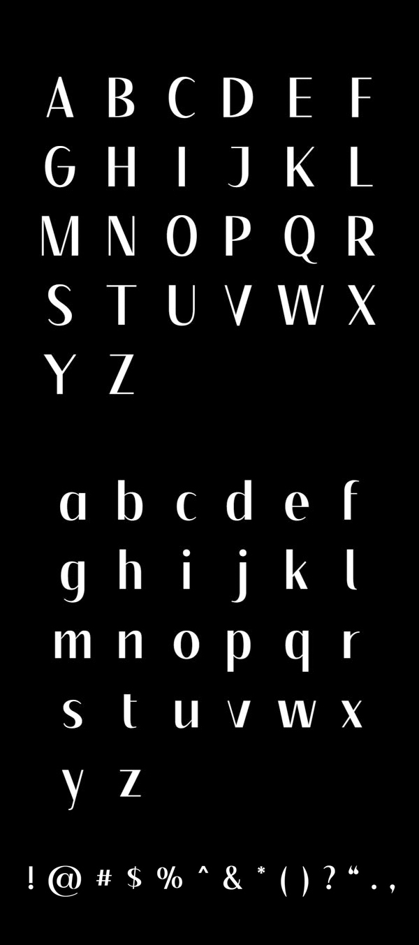 Floane Free Font Letters