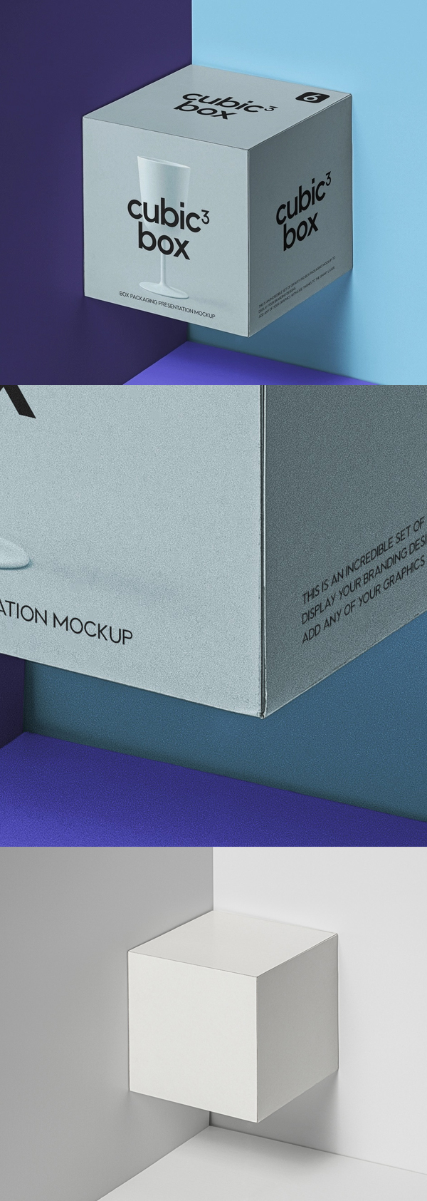 Free Square Psd Product Box Mockup