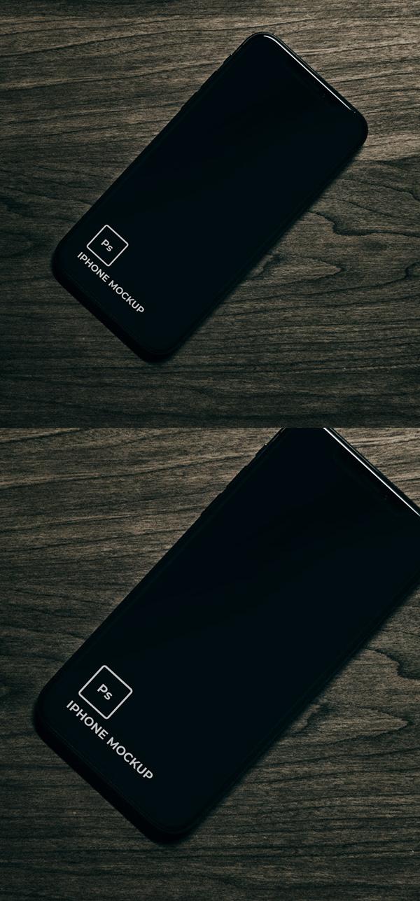 Free Minimal iPhone 11 Black Mockup