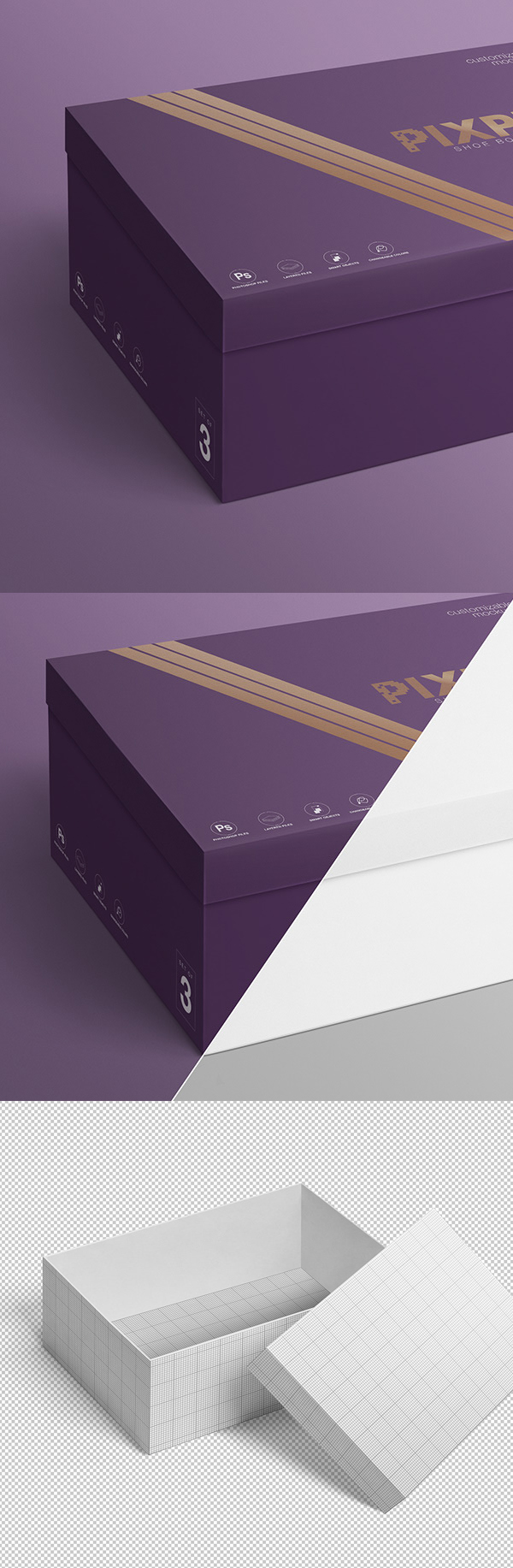 Free Shoe Box Mockup Set
