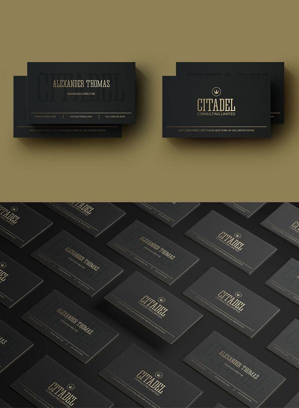 Elegant Gold Business Card Template