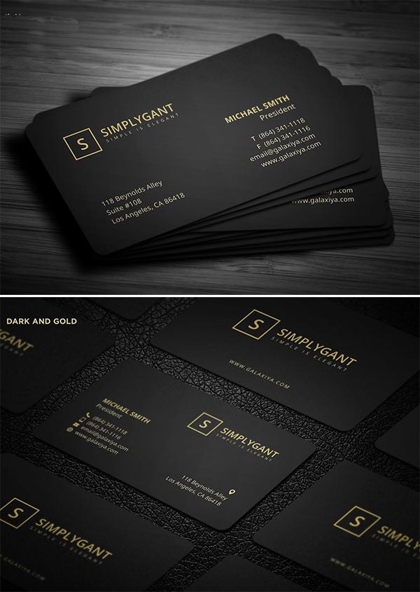 Luxurious Gold Business Card Template