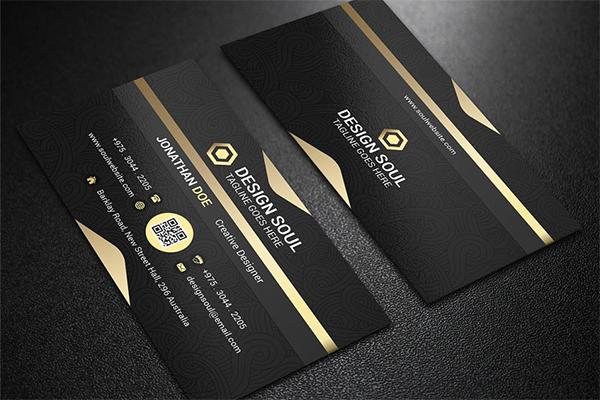 Black Business Card Deesign