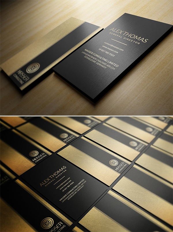 Gold Foil Business Card Template