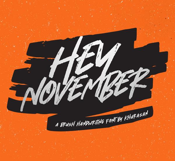 Hey November Brush Free Font