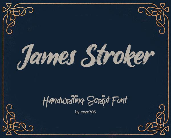 James Stroker Handwriting Script Free Font