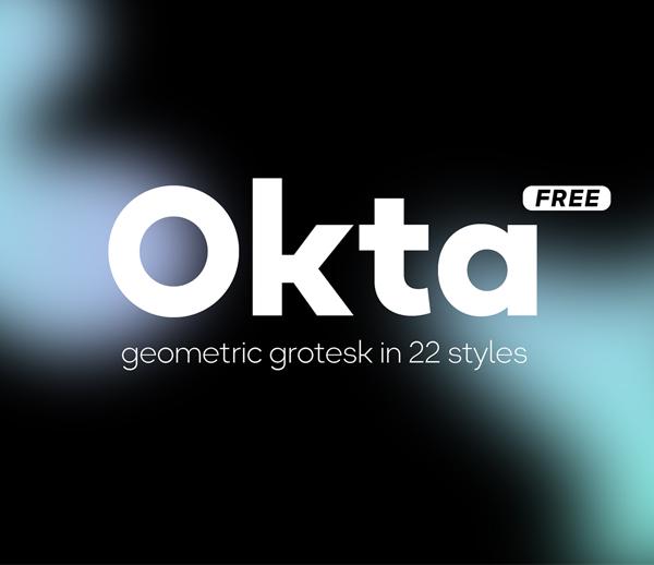 Okta Geometric Sans Serif Free Font