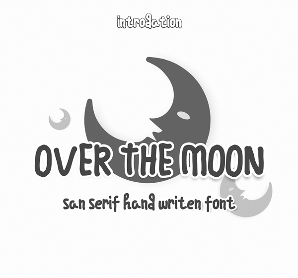 Over the moon Free Font