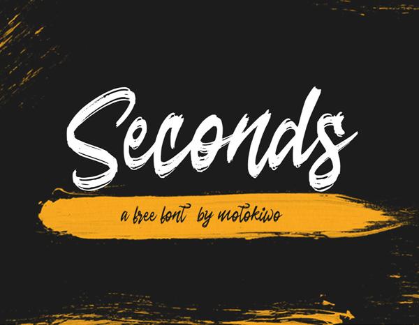 Seconds Rough Brush Script Free Font