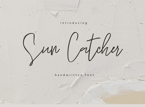 Sun Catcher Handwritten Script Free Font