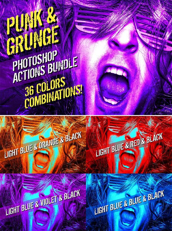 Punk & Grunge | Photoshop Actions