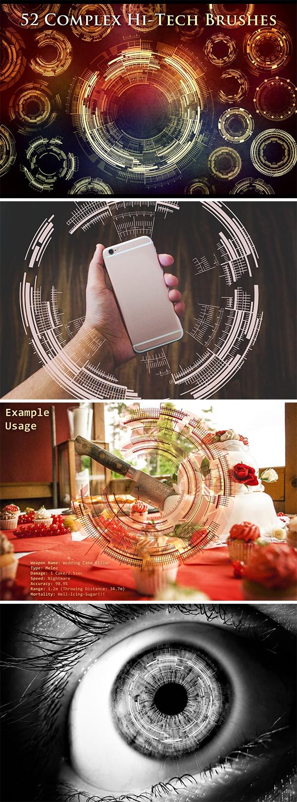 Complex Futuristic Circle Brushes
