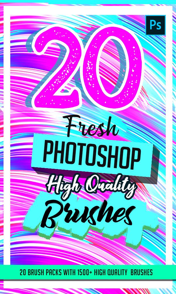 20 Fresh High Quality Photoshop Brushes
