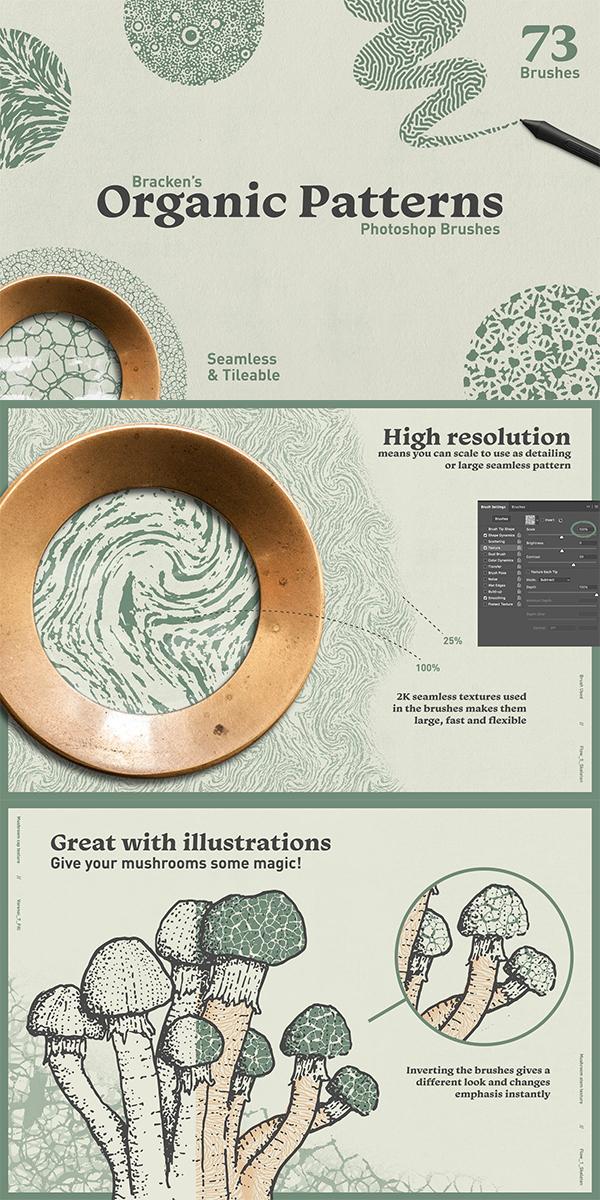 Organic Patterns - Photoshop Brushes