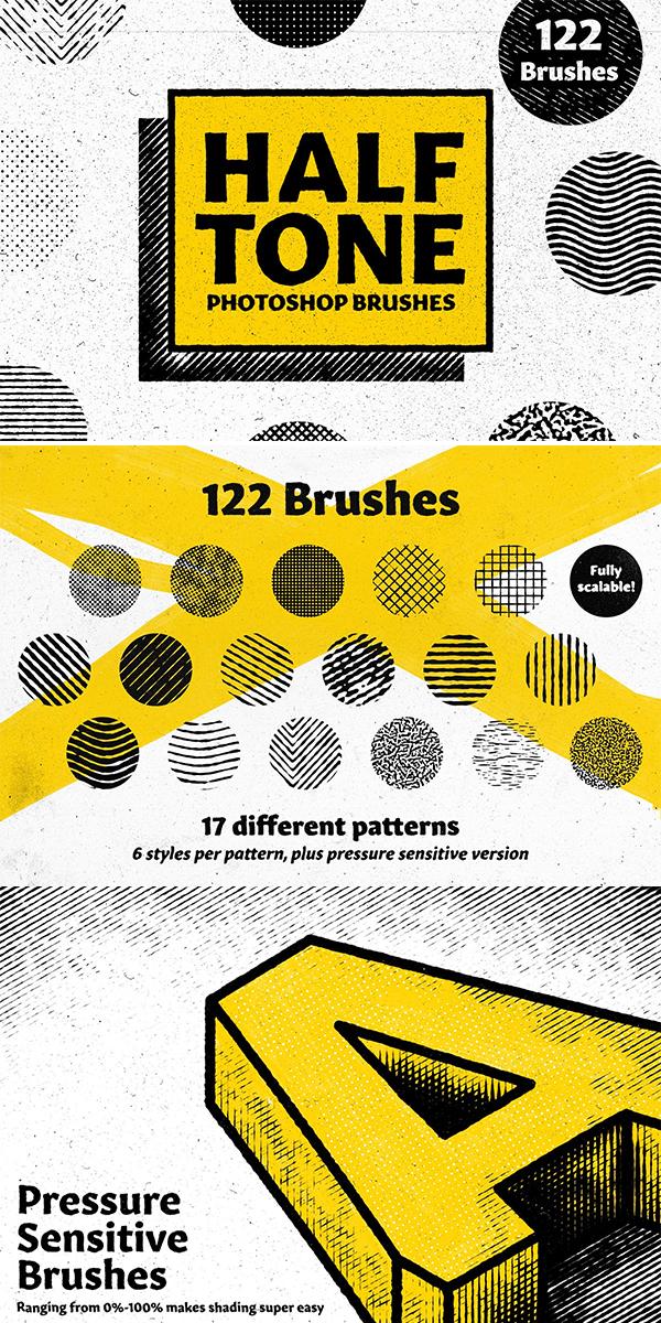 HALFTONE - Brushes for Photoshop