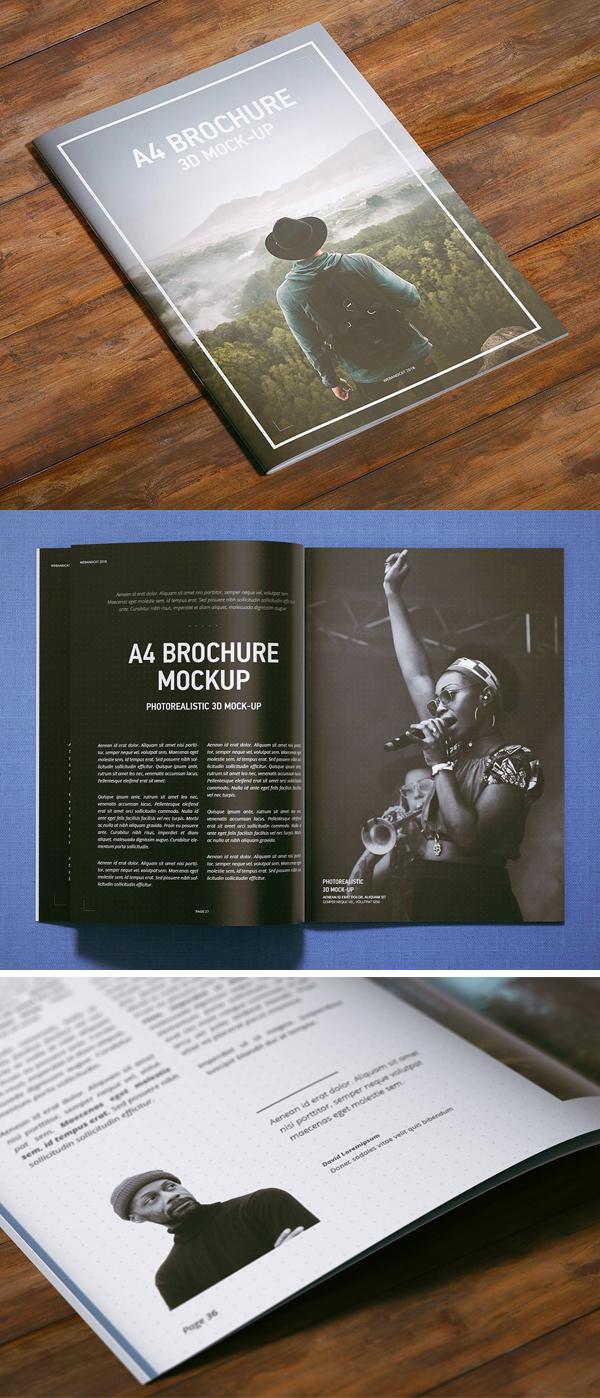 A4 Magazine | Brochure Mock-up