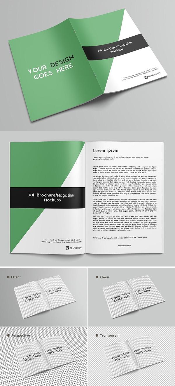Brochure / Magazine PSD Mockup