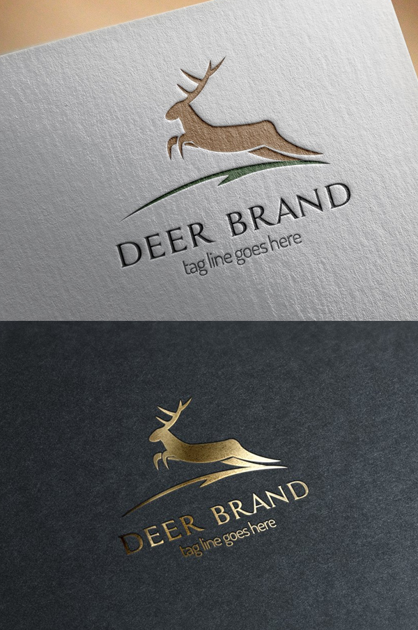 Deer Brand Logo Template - 13