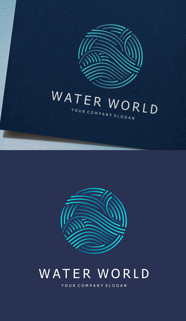 Water World Logo - 27