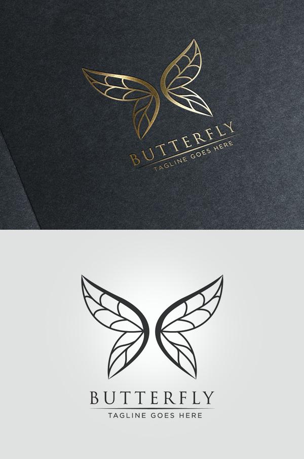 Luxury Butterfly - Logo Template - 4