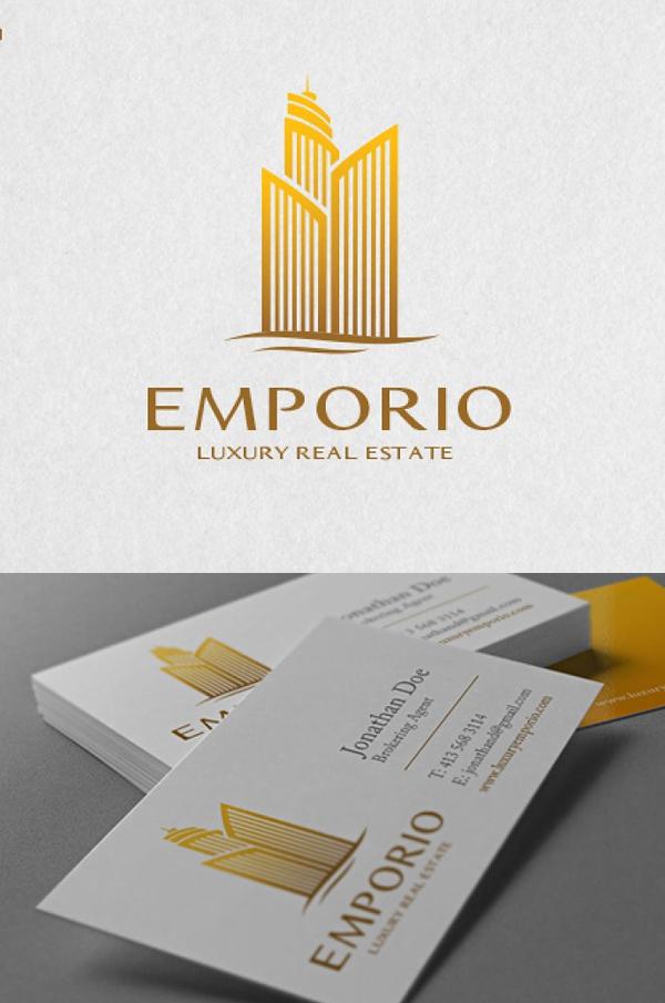 Luxury Real Estate Logo Template - 9