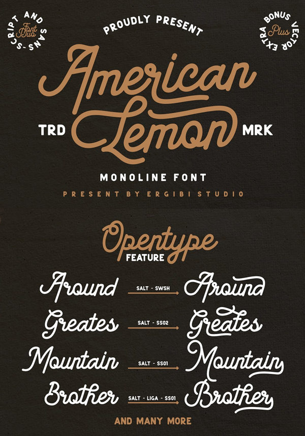 American Lemon Font Duo Free Font