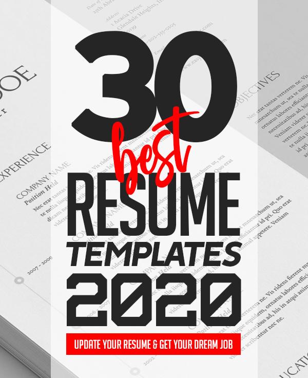30 Best CV / Resume Templates for 2020