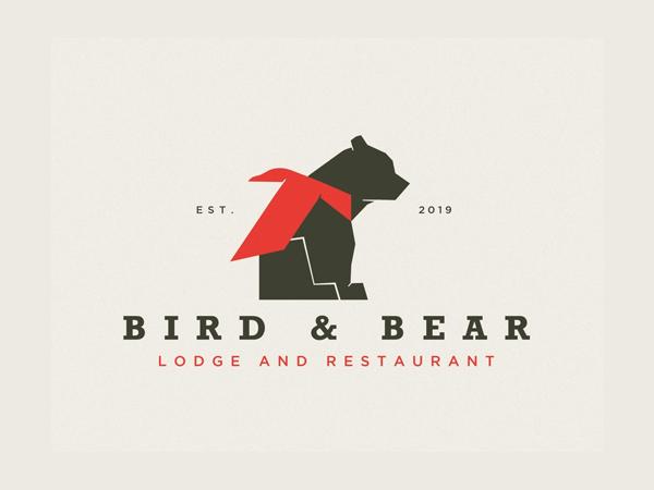 Bird and Bear Logo Design