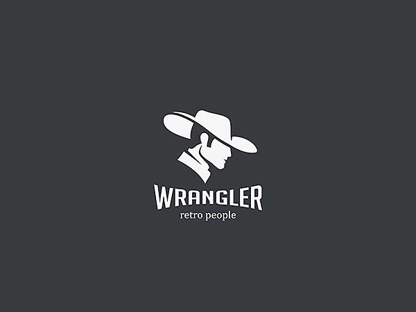 Wrangler Cowboy Logo Design