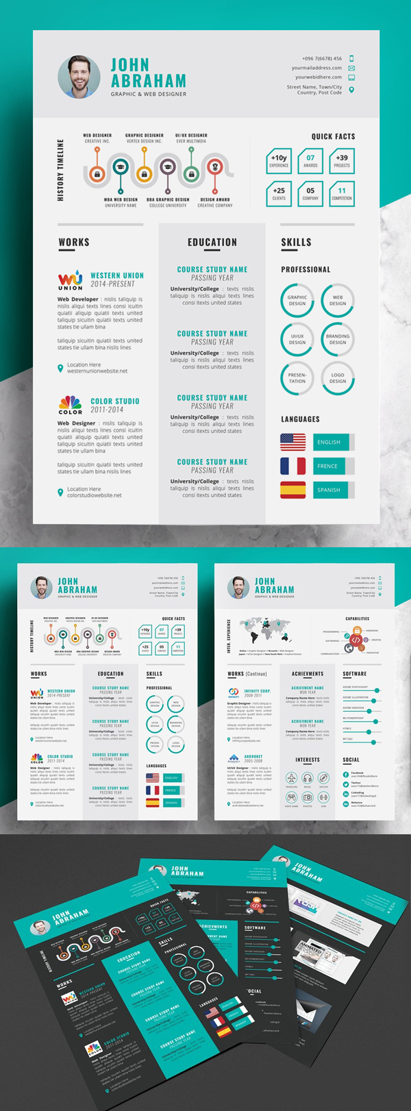 Info graphic Resume / CV