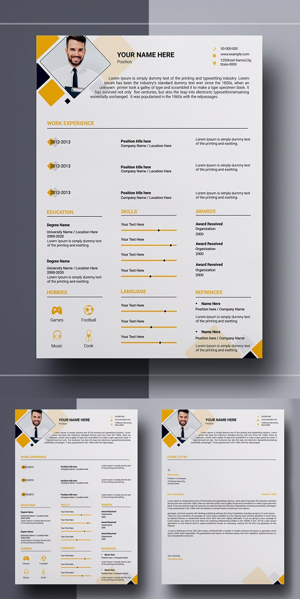 v2 Page Resume Template