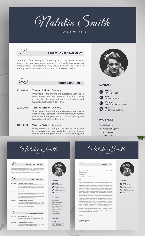 Elgant Simple Resume CV