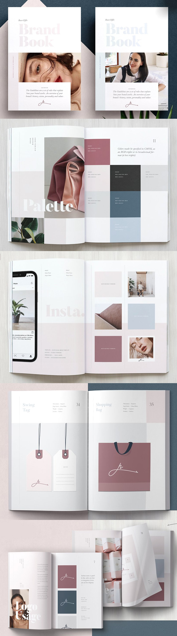 ROSE — Brand Guidelines Brochure Template