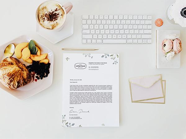 Free US Letter Size Letterhead Design
