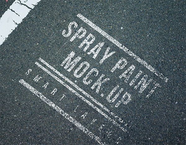 Spray Paint Mockup