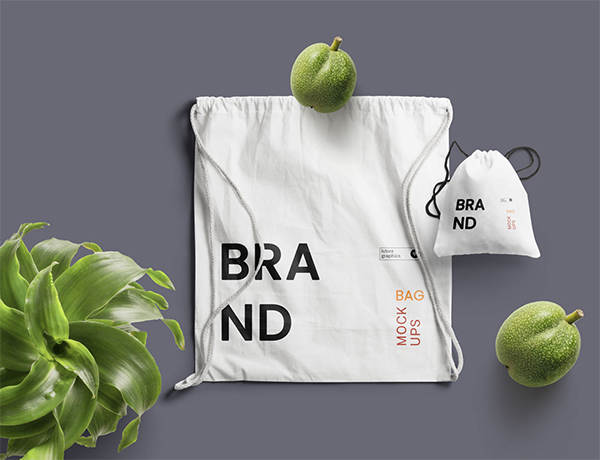 Amazing Drawstring Bag Mockup Free